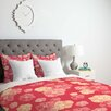 DENY Designs Lisa Argyropoulos Blossoms On Coral Duvet Cover