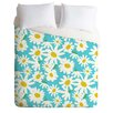 DENY Designs Zoe Wodarz Lightweight Daisy Do Right Blue Duvet Cover