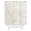 DENY Designs Social Proper Snowballs Woven Polyester Shower Curtain