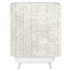 DENY Designs Social Proper Snowballs Woven Polyester Shower Curtain