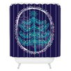 DENY Designs Rachael Taylor Decorative Tree Woven Polyester Shower Curtain