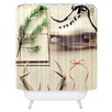 DENY Designs The Light Fantastic Christmas Card Woven Polyester Shower Curtain
