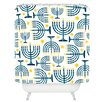 DENY Designs Zoe Wodarz Holiday Lights Woven Polyester Shower Curtain