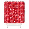 DENY Designs Julia Da Rocha Snow and Stars Woven Polyester Shower Curtain