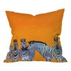 DENY Designs Clara Nilles Candy Stripe Zebra Throw Pillow