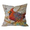 DENY Designs Elizabeth St Hilaire Nelson Cardinal Throw Pillow
