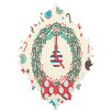 DENY Designs Sam Osborne Christmas Wreath Wall Clock
