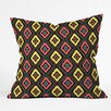 DENY Designs Jacqueline Maldonado Zig Zag Ikat Polyester Throw Pillow