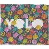 Bianca Green Yolo Polyester Fleece Throw Blanket