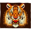 <strong>DENY Designs</strong> Chobopop Geometric Tiger Polyester Fleece Throw Blanket