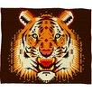 Chobopop Geometric Tiger Polyester Fleece Throw Blanket