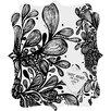 DENY Designs Julia Da Rocha Wild Leaves Quatrefoil Magnet Memo Board