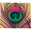 DENY Designs Shannon Clark Peacock 2 Polyester Fleece Throw Blanket