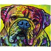 DENY Designs Dean Russo Hey Bulldog Polyesterrr Fleece Throw Blanket