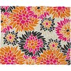 <strong>DENY Designs</strong> Andrea Victoria Summer Tango Floral Polyesterrr Fleece Throw Blanket