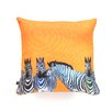 Clara Nilles Candy Stripe Zebras Woven Polyester Throw Pillow