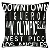 <strong>Uptown Artworks</strong> Dowtown LA Pillow