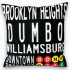 <strong>Uptown Artworks</strong> Downtown Brooklyn Pillow