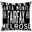 Uptown Artworks Los Angeles Pillow