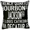 Uptown Artworks New Orleans Pillow