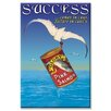 Buyenlarge Success Vintage Advertisement on Canvas