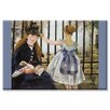 Buyenlarge Le Chemin de fer Painting Print on Canvas