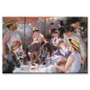 <strong>Buyenlarge</strong> The Luncheon of the Boating Party by Renoir Painting Print on Canvas