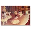 Buyenlarge Dress Rehearsal of the Ballet on the Stage Painting Print on Canvas