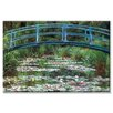 <strong>Buyenlarge</strong> 'Japanese Footbridge' by Claude Monet Painting Print on Canvas