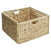 Seville Classics Woven Hyacinth Storage Basket (Set of 2)