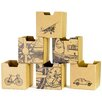 Sprout City Print Cubby Bin (Set of 6)