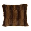 Wooded River Beaver Brown Pillow