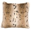 Wooded River Snow Lynx Fur Euro Pillow