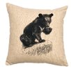 <strong>Bear Cub Linen Pillow</strong> by Wooded River