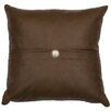 Wooded River Leather Pillow