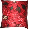 Holiday Elegance Poinsettia Silk Pillow