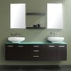 "<strong>Contempo 72"" Wall Mounted Double Vanity Set</strong> by James Martin Furniture"