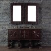 """James Martin Furniture Balmoral 60"""" Double Vanity Set with Stone Top"""