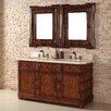 "James Martin Furniture Charleston 60"" Double Vanity Set with Stone Top"