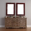 "<strong>James Martin Furniture</strong> Normandy 72"" Double Vanity Set with Wood Top"
