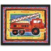 <strong>Fire Engine Framed Painting Print</strong> by Timeless Frames