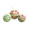 <strong>Wicker Lane</strong> 3 Piece Glitter Jingle Bell Ornaments Set