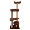 """Family Cat 60"""" Cat Tower with Skylookout and Lounger"""