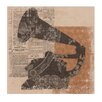 Heritage Lace Silhouettes Gramophone Graphic Art