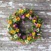 Mills Floral Prairie Flower Wreath