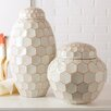 Two's Company 2 Piece Facets Covered Jar Set