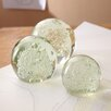 Two's Company 3 Piece Bubble Sphere Paperweight Set