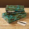 Two's Company 2 Piece Verdigris Covered Box Set