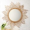 Two's Company Natural Rattan Large Wall Mirror