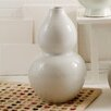 Two's Company Blanc De Chine Embossed Gourd Vase